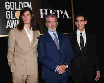 Dylan Brosnan, Pierce Brosnan und Paris Brosnan