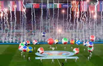 Die Eröffnungszeremonie der EM 2021 am 11. Juni vor dem Spiel Italien gegen Türkei in Rom