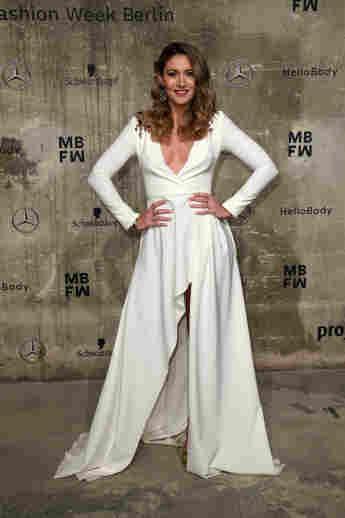 Fiona Erdmann bei der Fashion Ween in Berlin 2020