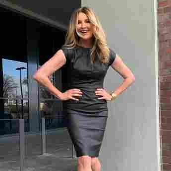 Frauke Ludowig Outfit Dress Kleid Leder