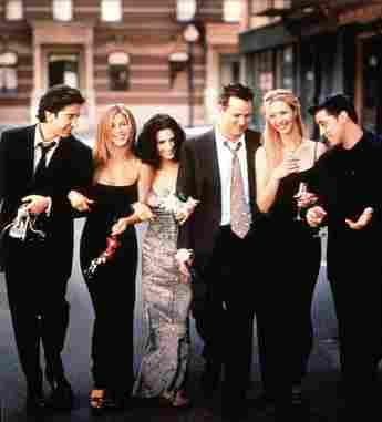 """Der Cast von """"Friends"""" mit David Schwimmer, Jennifer Aniston, Courteney Cox, Matthew Perry, Lisa Kudrow und Matt Le Blanc"""