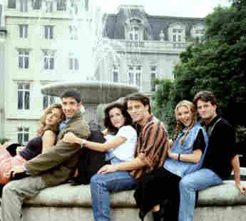 """Friends""-Cast Jennifer Aniston, David Schwimmer, Courteney Cox, Matt LeBlanc, Lisa Kudrow und Matthew Perry"