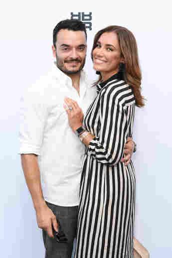 Giovanni und Jana Ina Zarrella bei der Berlin Fashion Week Spring/Summer 2019 am 4. Juli 2018
