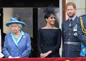 Königin Elisabeth. Herzogin meghan, Prinz Harry