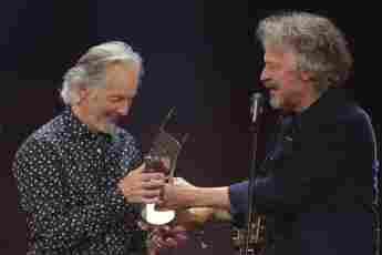 Klaus Voormann und Wolfgang Niedecken beim ECHO 2018