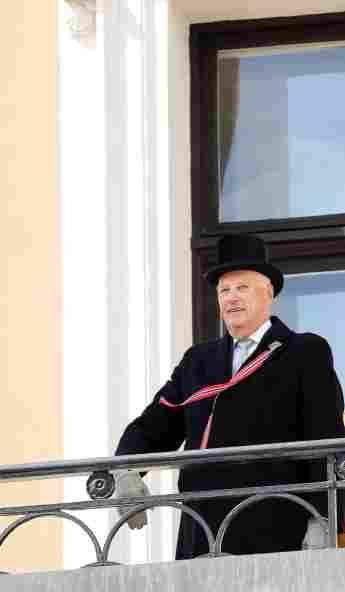 König Harald am Nationalfeiertag am 15. Mai 2018