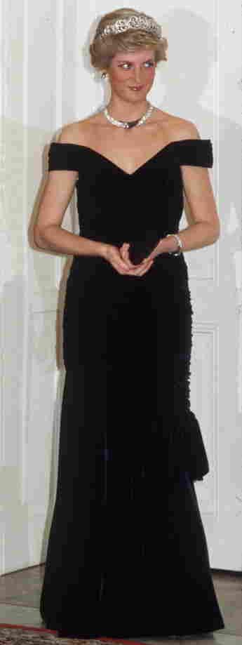 Lady Diana Kleid Samtkleid Deutschland