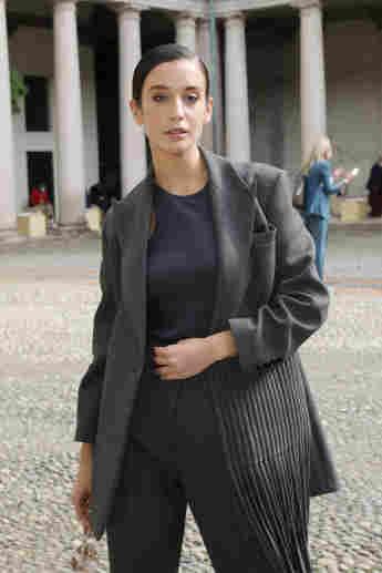 María Pedraza Fashion Show Boss Mailand
