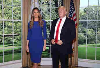 Melania Trump bekam ihre eigene Wachsfigur neben Ehemann Donald Trump