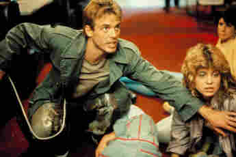"Michael Biehn und Linda Hamilton in ""Terminator"""