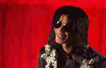 Michael Jackson bei einer Pressekonferenz in der O2 Arena in London am 5. März 2009