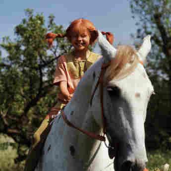 """""""Pippi Langstrumpf"""" mit ihrem Pferd """"kleiner Onkel"""""""