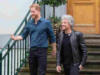 Prinz Harry und Jon Bon Jovi