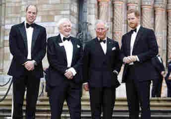 """Prinz William, Sir David Attenborough, Prinz Charles und Prinz Harry bei der """"Unser Planet"""" Global Premiere am 4. April 2019"""
