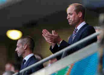 Prinz William beim EM-Halbfinale von England gegen Dänemark am 7. Juli 2021
