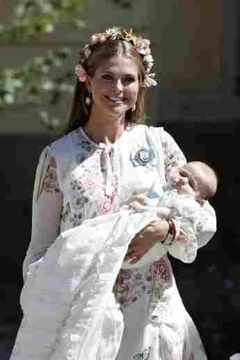 Prinzessin Madeleine und ihre Tochter Prinzessin Madeleine bei deren Taufe im Juni 2018
