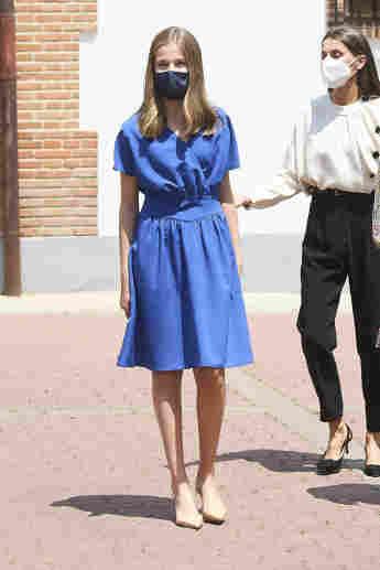 Prinzessin Leonor nach ihrer Firmung in Madrid am 28. Mai 2021
