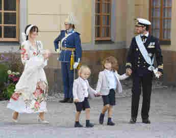 Prinzessin Sofia, Prinz Julia, Prinz Carl Philip, Prinz Alexander und Prinz Gabriel bei der Taufe von Prinz Julian am 14. August 2021