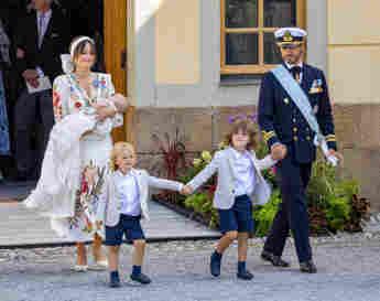 Prinzessin Sofia, Prinz Carl Philip, Prinz Gabriel, Prinz Alexander bei der Taufe von Prinz Julian am 14. August 2021