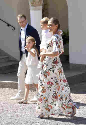 Prinzessin Victoria, Prinz Daniel, Prinzessin Estelle und Prinz Oscar am Victoriatag in Öland am 14. Juli 2019