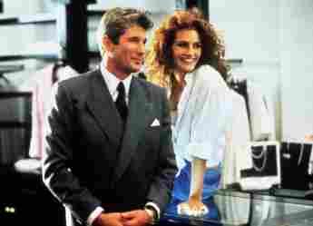 """Richard Gere und Julia Roberts im Film """"Pretty Woman"""" 1990"""