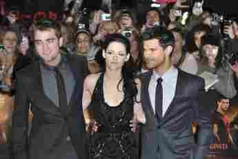 Robert Pattinson, Kristen Stewart und Taylor Lautner