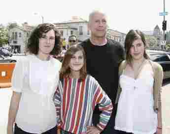 Rumer, Tallulah, Bruce und Scout Willis