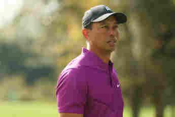 Tiger Woods im Dezember 2020 auf dem Golfplatz in Orlando