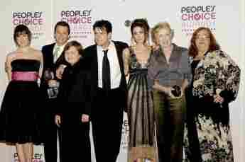"Der Cast von ""Two and a Half Men"" am 10. Januar 2007"