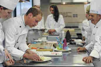 william kate cook kitchen