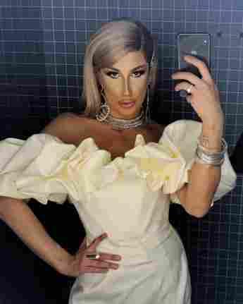 Drag Queen Yoncé Banks Selfie auf Instagram
