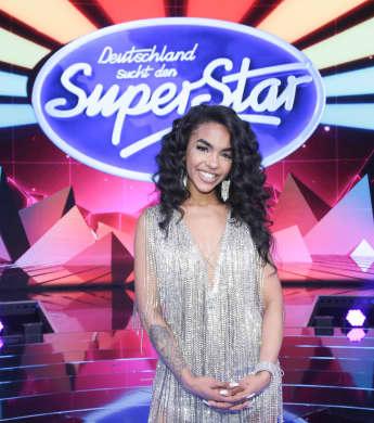 Alicia-Awa Beissert bei der zweiten Mottoshow der 16. Staffel DSDS