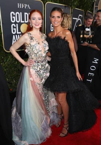 Barabara Meier, Heidi Klum, Golden Globes 2018