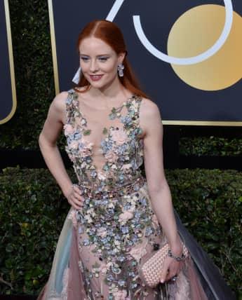 """""""Germany's next Topmodel"""" Barbara Meier auf dem roten Teppich der Golden Globes 2018"""