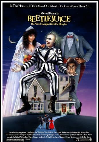 """Beetlejuice"" Filmcover 1988"