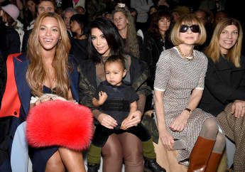 Beyoncé Knowles, Kim Kardashian, North West und Anna Wintour auf der New York Fashion Week