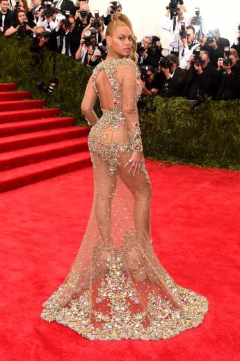 Beyonce zeigte bei der MET Gala viel Haut