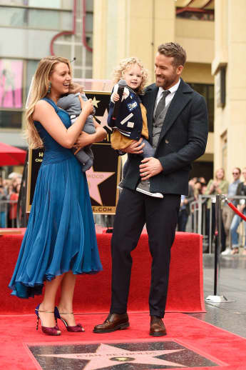 Blake Lively and Ryan Reynolds with their two children
