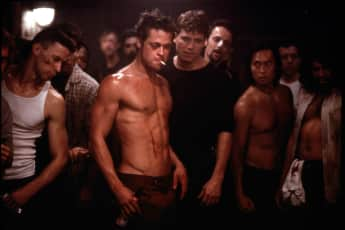 "Brad Pitt in ""Fight Club"""
