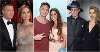 Brad Pitt und Angelina Jolie, Pietro und Sarah Lombardi, Johnny Depp und Amber Heard trennten sich 2016