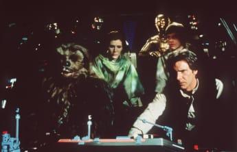 """Carrie Fisher, Mark Hamill und Harrison Ford in """"Die Rückkehr der Jedi-Ritter"""""""