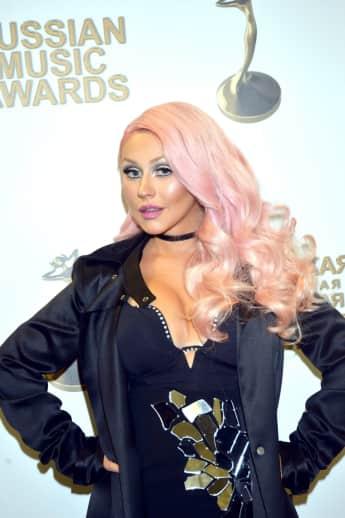 Die amerikanische Sängerin Christina Aguilera 2016 in Moskau
