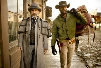 """Christoph Waltz alias """"Dr. King Schultz"""" und Jamie Foxx alias """"Django"""" in """"Django Unchained"""""""