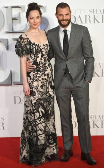 Dakota Johnson und Jamie Dornan auf dem roten Teppich