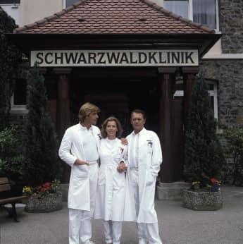 Sascha Hehn, Gaby Dohm, Klazsjürgen Wussow in die Schwarzwaldklinik