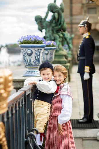 Prinzessin Estelle und Prinz Oscar am Nationalfeiertag