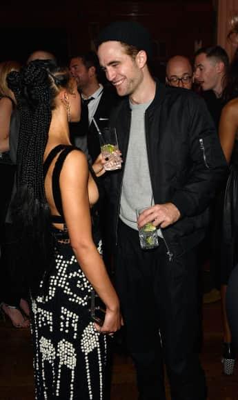 Sängerin FKA Twigs zusammen mit ihrem Freund Robert Pattinson auf der After-Show-Party der Brit-Awards