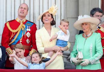 Prinz WIlliam, Herzogin Kate, Prinz George, Prinzessin Charlotte, und Prinz Louis