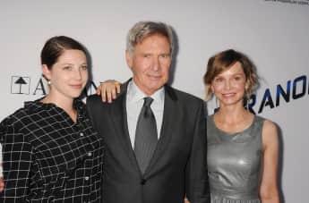 Harrison Ford mit Ehefrau Calista Flockhart und Tochter Georgia