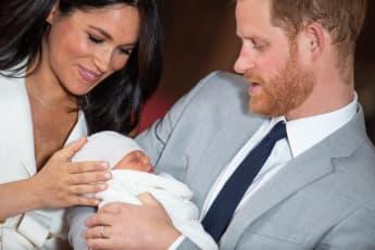 Herzogin Meghan, Archie Harrison und Prinz Harry im Schloss Windsor im Mai 2019